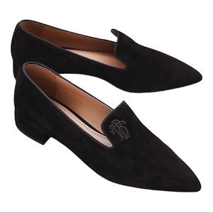 Tory Burch Pascal Smoking Slipper Suede Loafers